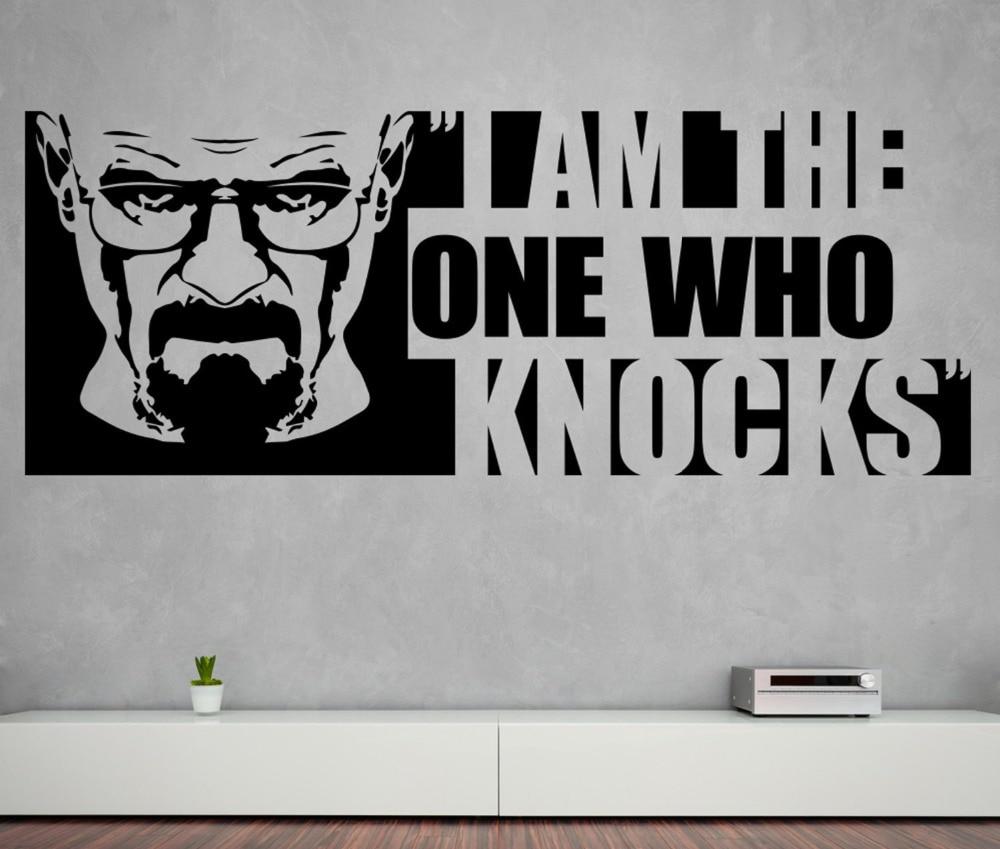 Heisenberg настенные наклейки с цитатами, я тот, кто стучит, виниловые наклейки на стену для разбивания Bad узора, домашний декор для гостиной SYY807