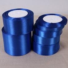 6mm 10mm 15mm 20mm 25mm 40mm 50mm azul real cetim fitas de natal festa de aniversário de casamento decoração de embrulho de presente fitas
