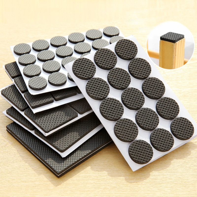 30pcs/set Adhesive  Anti-Skid Scratch DIY Resistant Furniture Feet Floor Protector Pads Table Legs Stools Chairs Mats