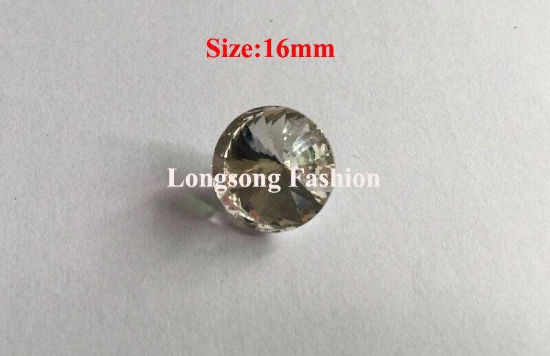 Envío gratis al por mayor 72 unids/lote 16mm Rivoli de diamantes de imitación botón decorativo botón Scrapbooking botón LSCZ002