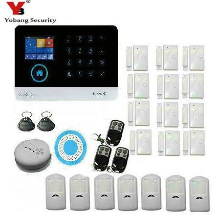 Sistema Inalámbrico YobangSecurity WIFI 3G WCDMA/CDMA antirrobo, ALARMA DE SEGURIDAD PARA EL HOGAR de intrusión, sistema de automatización, sirena Flash inalámbrica para interiores