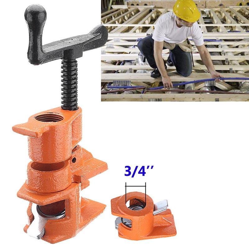 Abrazadera de tubo de carpintería de alta resistencia de 3/4 1/2 pulgadas, abrazadera para tubería de pegado de madera, herramientas de trabajo con madera para carpintero LG66