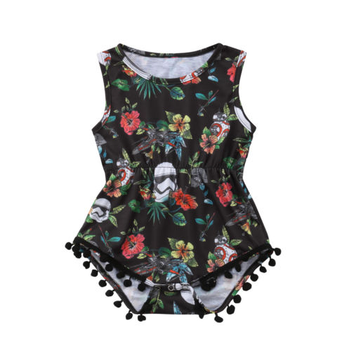 Us bebê recém-nascido menina estrela floral guerra laço a granel bodysuit macacão outfit sem mangas sunsuit roupas casuais
