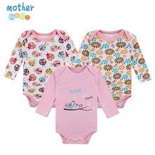 Mother Nest Baby Bodysuit 3 Pcs/lot Cotton Babies Newborn 100% Cotton Baby Body Long Sleeve Infant Boy Girl Climb Clothes
