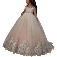 little flower girls dresses party wedding vestidos para nina robe de soiree fille kids ball gowns white first communion dresses
