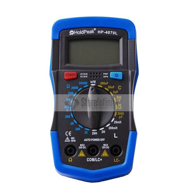Medidor de capacitancia Digital Original HoldPeak HP-4070L, medidor de inductancia, medidor LCR