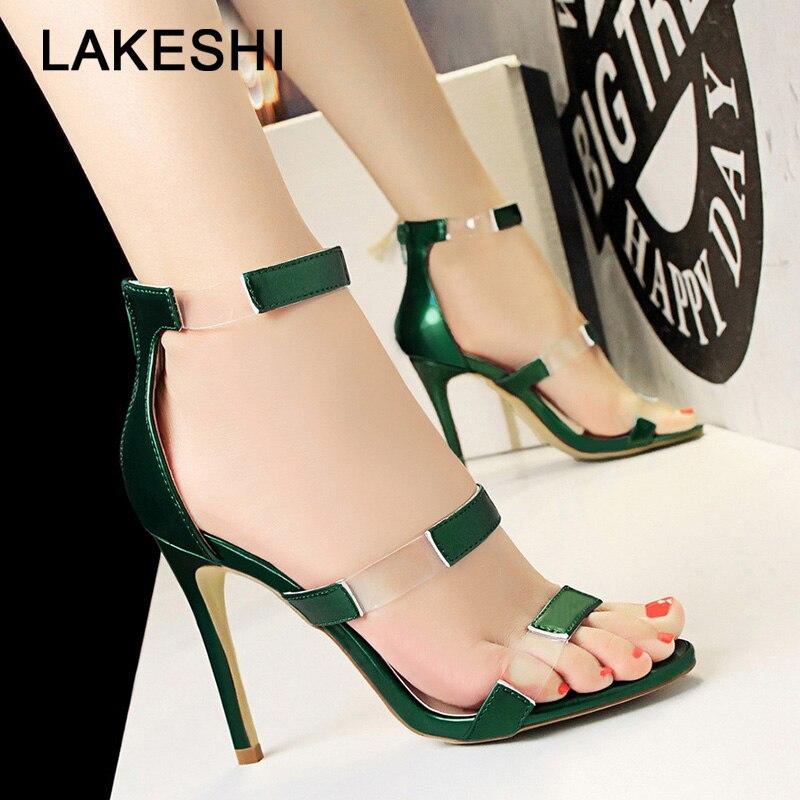 Women Pumps New Women Sandals Transparent High Heels Women Shoes Sexy Women Party Shoes Red Wedding Shoes Fashion Stiletto