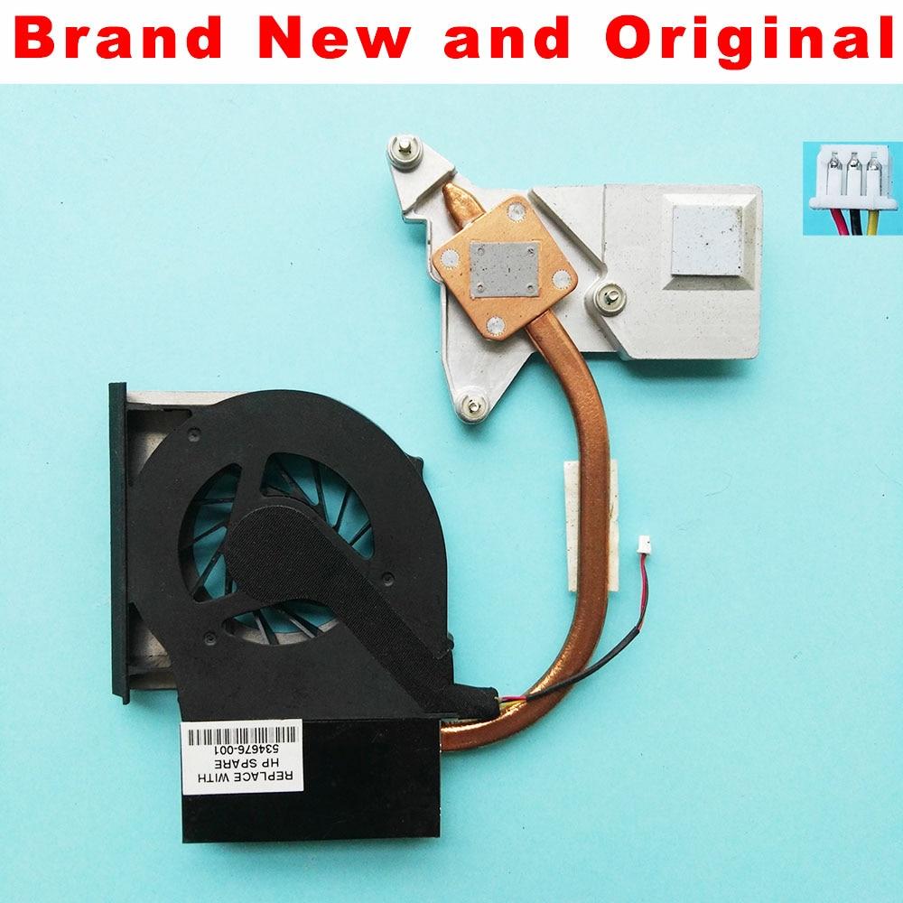 Nuevo radiador original para HP CQ61 G61 CQ71 G71 disipador térmico, ventilador de refrigeración, módulo térmico 534676-001 kipo055613L1S