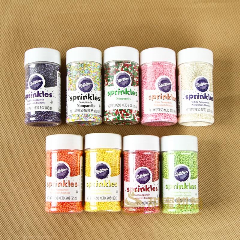 Envío Gratis, bola pequeña de color American wilton/Cuenta de azúcar/perla, copa de azúcar, pastel, 9 colores opcional