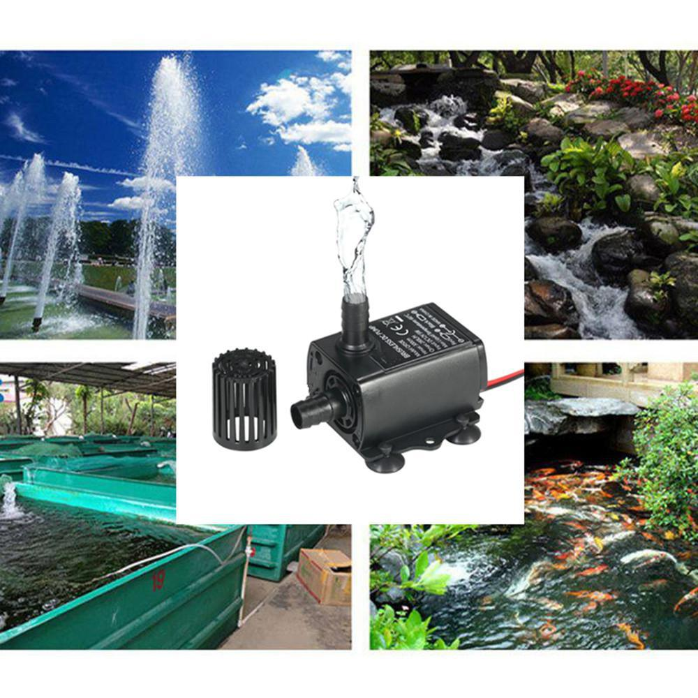 Micro Borstelloze Motor DC Dompelpomp tanque de peces de acuario pompa DC 12V 3m 280L/H voor agua Circulerende