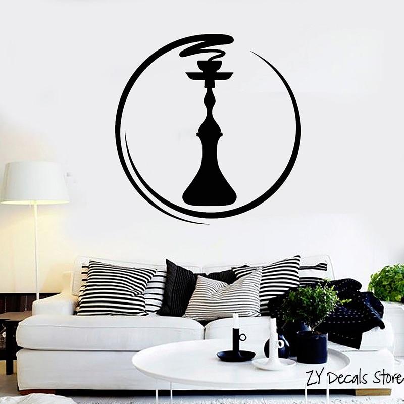 Виниловая наклейка на стену Zen, кальян, бар, гостиная, кальян, наклейки для курения, арабский винил, наклейки, художественная роспись, съемные обои L594