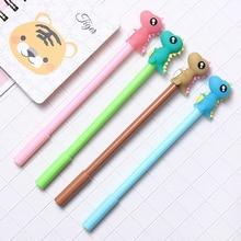 1pcs Little Dinosaur Gel Pen School Stationeries School Supplies Lovely Kawaii Cute Beautiful Colour Office Black 0.5mm