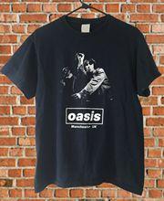 Vintage 90s Oasis EMI Britpop Band Rock T Shirt Black Mens Size S - 3XL Printed Round Men T-Shirt Cheap Price Top Tee