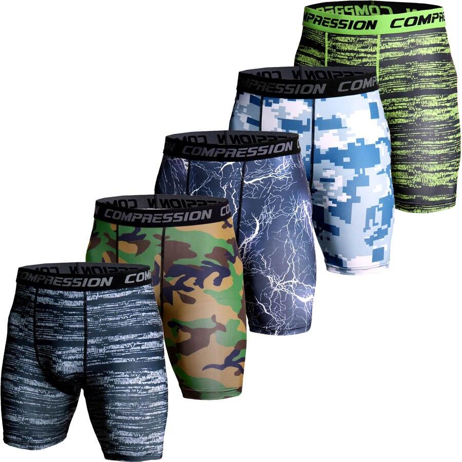 Compressione shorts Uomini 3D Stampa Camouflage Bodybuilding Calzamaglie Corta Da Uomo Palestre shorts Maschio Muscolo Vivo Elastico running Pantaloncini