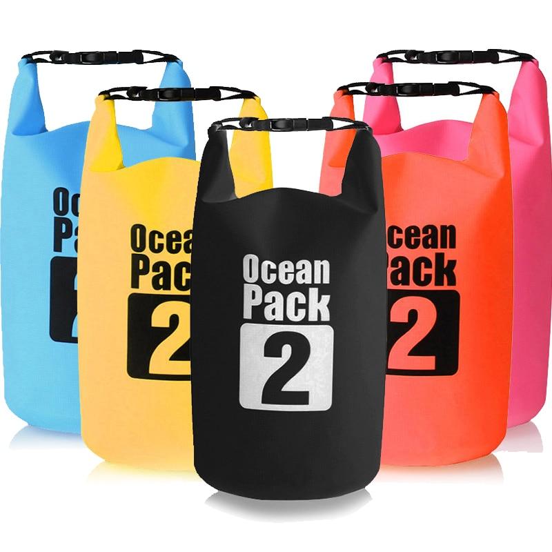 2L Waterproof Water Resistant Dry Bag Sack Storage Pack Pouch Swimming Outdoor Kayaking Canoeing River Trekking Boating
