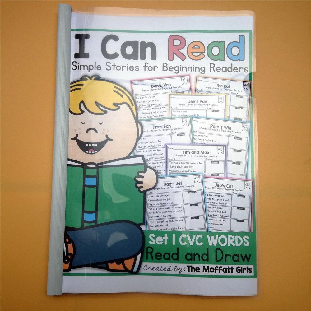 Inglés Phonic I Can Read Coloring Stories libro preguntas papel libro de entrenamiento libro aula enseñanza ayuda niños juegos