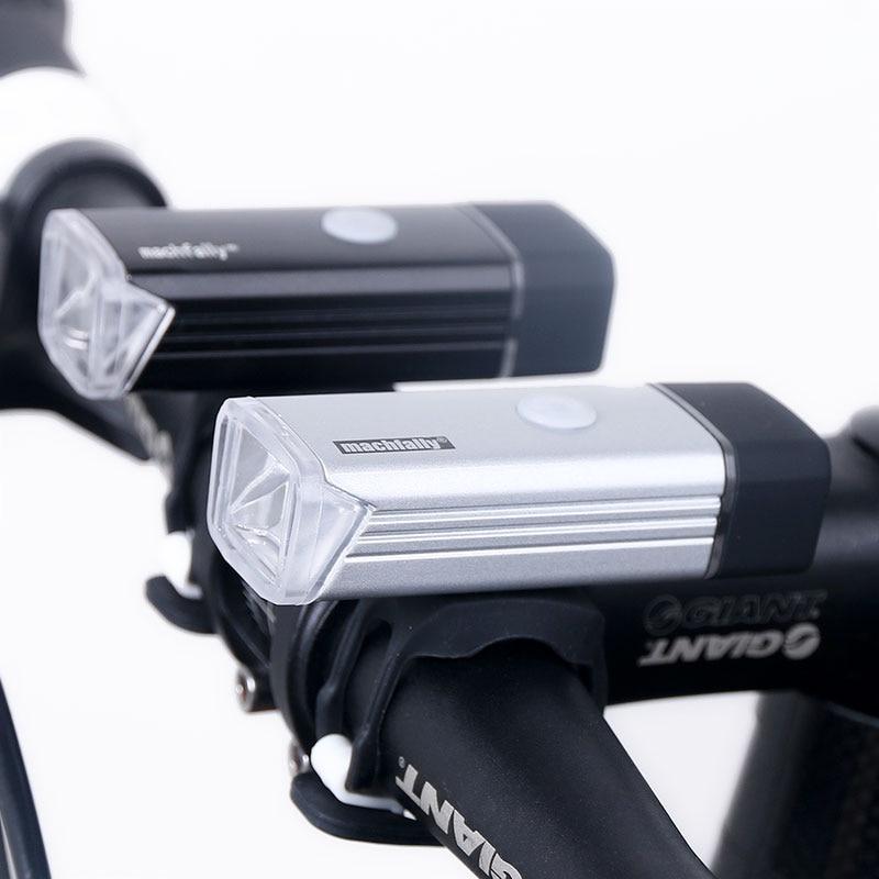 Luz Delantera de la bicicleta Recargable USB de Alta Potencia LED Cabeza de La Lámpara de Iluminación Linterna de la Bici Del Manillar Ciclismo Linterna 1200 mAH