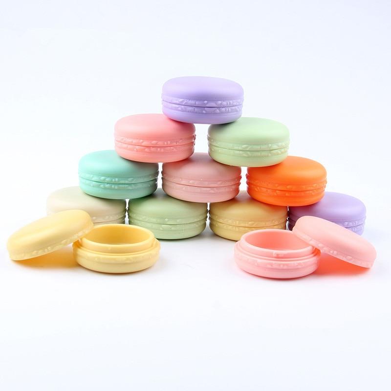 100 قطعة/الوحدة 10g الحلوى اللون فارغة التجميل الحاويات البلاستيكية جرة وعاء ظلال ماكياج السفر الوجه كريم غسول زجاجة مربع