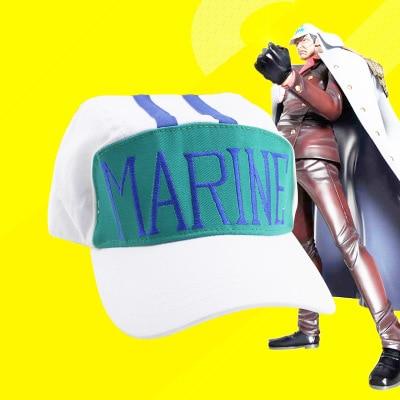 Anime ONE PIECE Sakazuki anime hat pirate hat marine Navy code Red Dog Cosplay baseball cap visor cap Men Adult hats accessories недорого