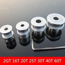 2GT 16T 20T 25T 30T 40T Gürtel Pulley aluminium legierung Pulley synchronisierung pulley für getriebe für synchron gürtel stick