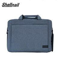 Shellnail Laptop Bag 13.3 15.6 Inch Waterproof Notebook Bag for Macbook Air Pro 13 15 Computer Shoulder Handbag Briefcase Bag
