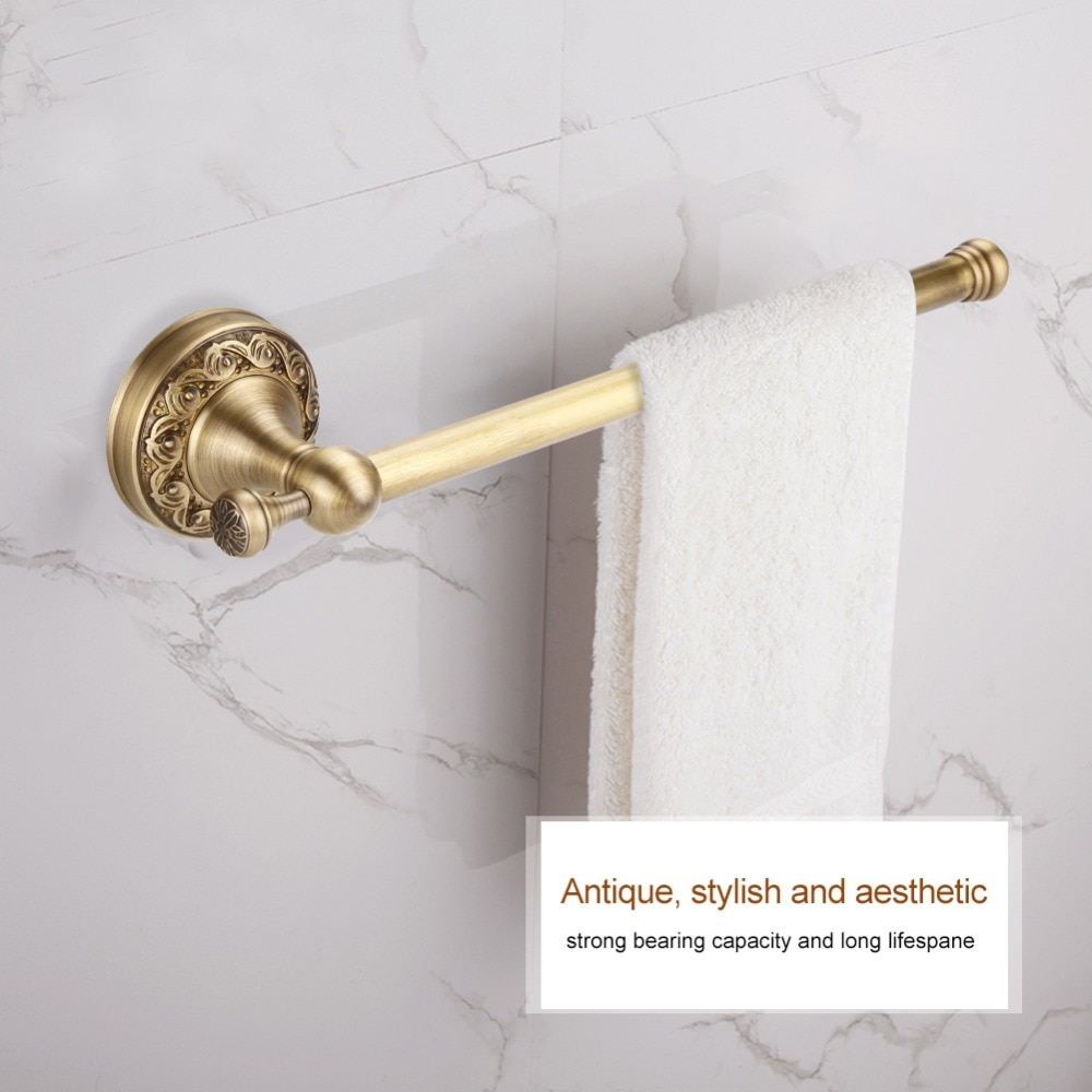 ¿1 Uds soporte antiguo para Toalla de baño toalla titular Rack único Barra de Pole colgador de ropa estante de pared de montaje?
