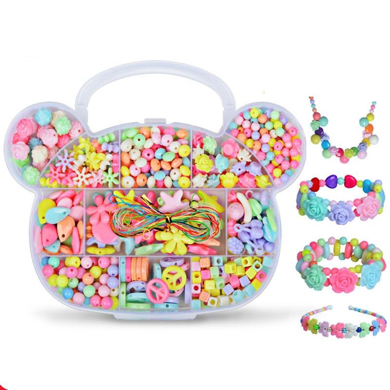 Zhenwei 350 pcs Pop DIY Beads Jewelry Fashion Kit Bracelet Educational Kid Necklace Toy Craft  Gifts For Girls