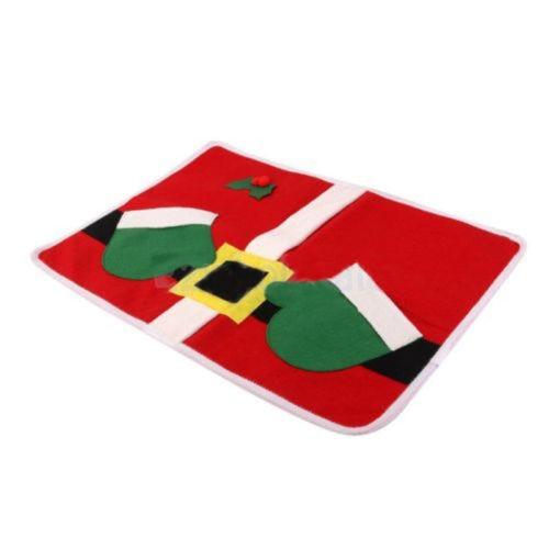 Navidad Mesa Runner mantel cojín cubierta vajilla Mat almohadilla decoración feliz Santa Claus de Navidad comedor mantel estera de tabla