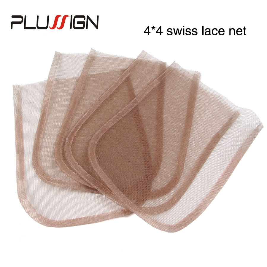 3 Pcs/Lot Top Swiss Net For Lace Wig Base Cap 4x4 5x5 13x4 13x6 360 Frontal Closure Base Wig Netting Lace Material Skin Color enlarge