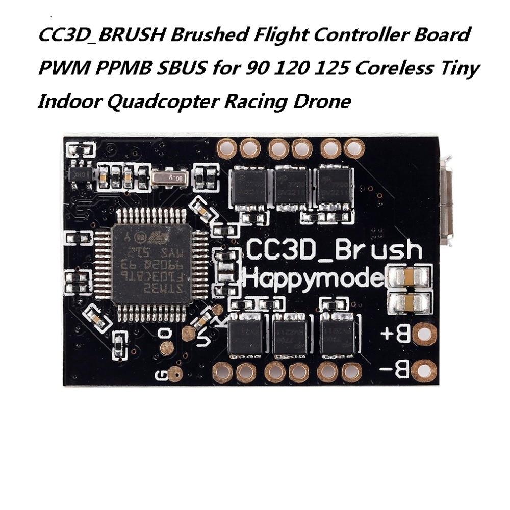 CC3D_BRUSH cepillado Placa de control de vuelo PWM PPMB SBUS para 90 120 125 pequeño, sin núcleo interior Quadcopter avión teledirigido de carreras
