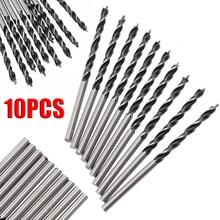 10 pièces/ensemble 3mm Diam foret hélicoïdal 58mm longueur bois forets en spirale avec Point central haute résistance outil de forage du bois
