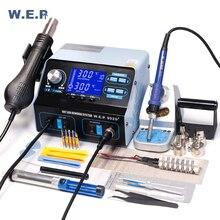 WEP 992D + fer à souder Station de soudage à Air chaud téléphone IC PCB réparation Station de dessoudage BGA Station de reprise outil de soudure