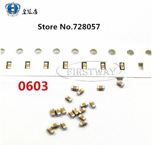 0603 10UF 6,3 V 106M 20% X5R 100 unids/lote envío gratis SMD condensadores de cerámica