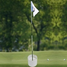 Golf Training Aids White Plastic Golf Hole Cup Putting Putter Golf Flag Stick Yard Garden Training Backyard Practice Putting