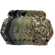Hommes haut de gamme imperméable à leau col rabattu veste tactique furtif à capuche veste douce TAD Sharkskin veste