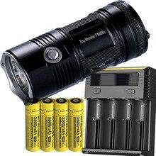 NITECORE TM06S recherche lampe de poche CREE XM-L2 U3 LED 4000 Lumens Distance de faisceau 359M haute lumière torche + 4x batterie + nouveau chargeur I4