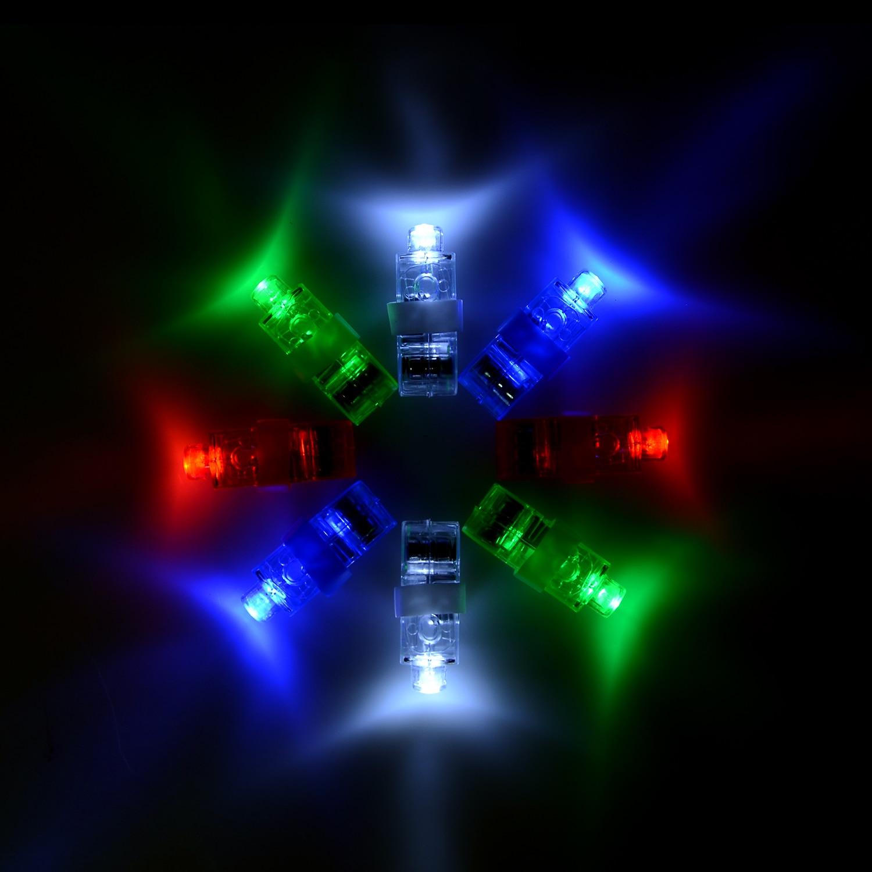 100 sztuk/partia LED światełka na palec świecące olśniewający kolor lampy emitujące Laser boże narodzenie festiwal ślubny oświetlenie na imprezę wystrój D19