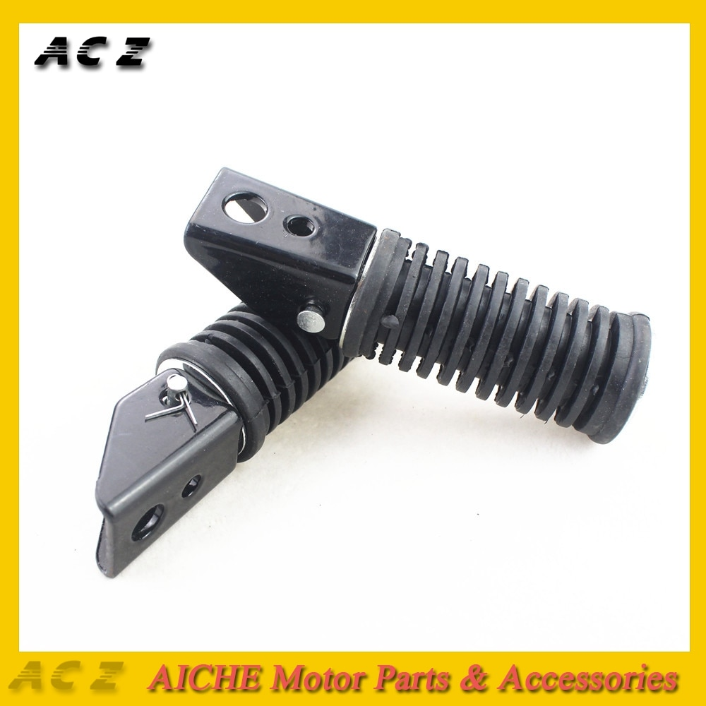 ACZ 2X accesorios de motocicleta clavijas de Pedal de mezcla aluminio de goma de pie para motocicleta apoya para Suzuki GN125 QJ125 GS125 GT125-5