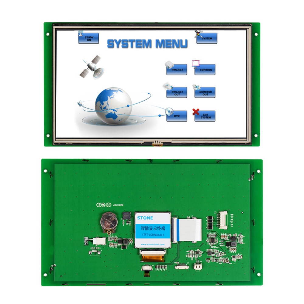 10.1 Inch TFT LCD Touch Displayer With Touch Control