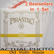 Нейлоновые струны для скрипки Pirastro Tonica (412027), 2 хит продаж в одном наборе, сделано в Германии, хит продаж