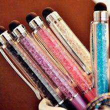 1 teile/los Nette Kristall stift Diamant kugelschreiber Schreibwaren kugelschreiber 2 in 1 kristall stylus stift touch pen Kostenloser Versand
