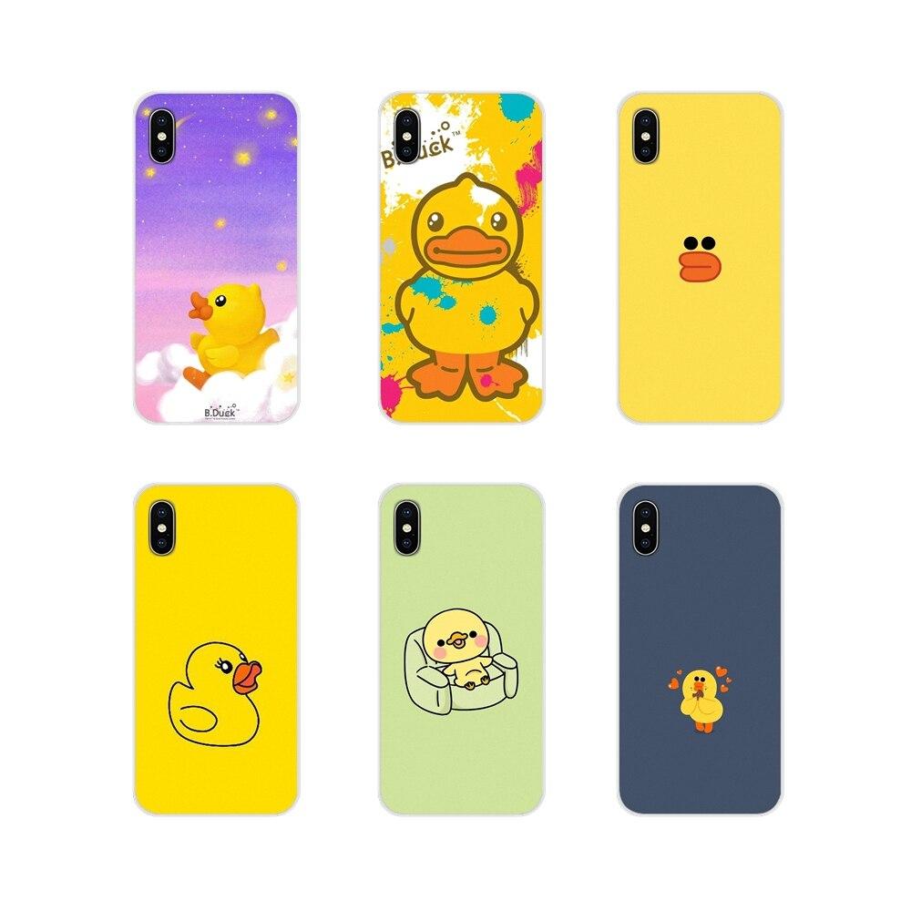Accesorios fundas de teléfono fundas para Huawei P Smart Mate Honor 7A 7C 8C 8X9 P10 P20 Lite Pro Plus pato amarillo fresco diseño encantador