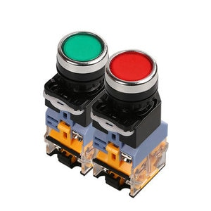 LA38-11DS/220V hole diameter  22mm illuminated pushbutton switch red and green /machine/electrical control cabinet accessories