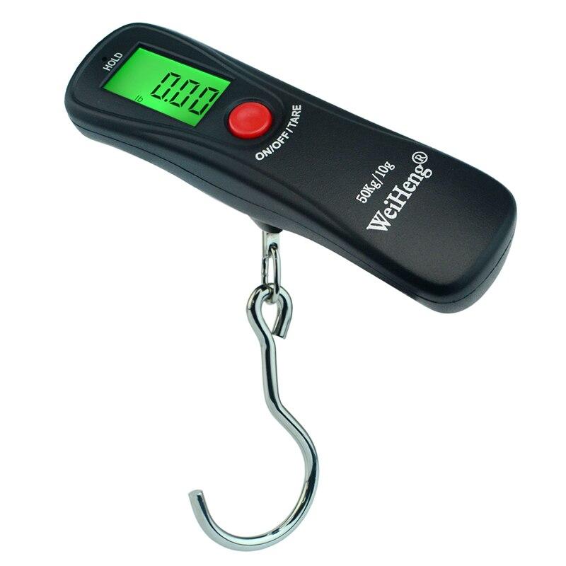 Pantalla LCD 50Kg/10g portátil Mini electrónico de bolsillo de viaje maletín de mano balanza Balanza De peso báscula de equipaje Digital
