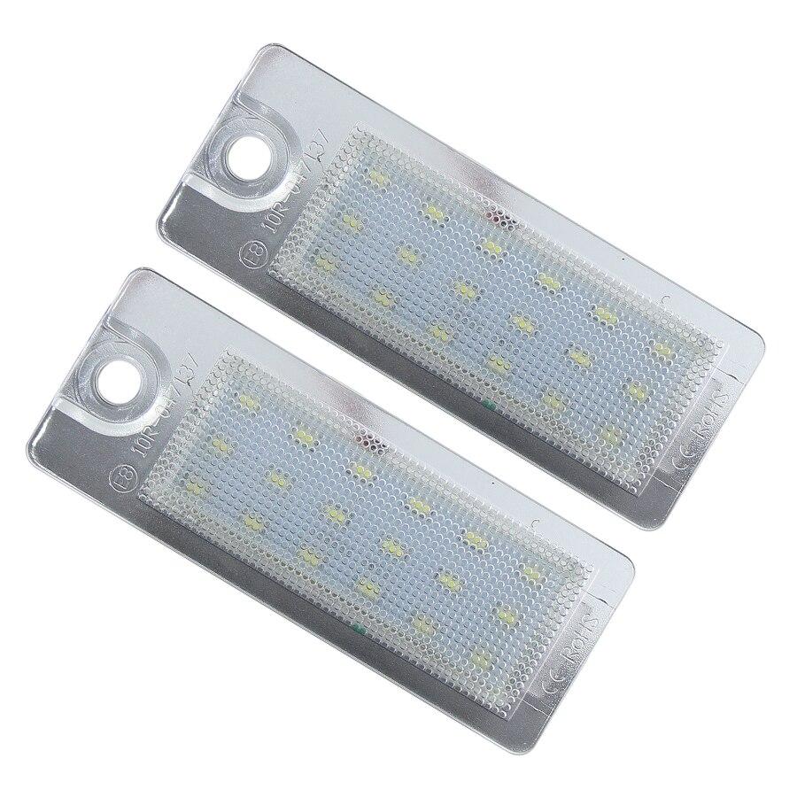 Para Volvo V701 XC701 S60 S80 XC90 coche/AUTO LED CANBUS sin Error Número de lámpara de placa de matrícula luz No hyperflash blanco 6000k @ 12V