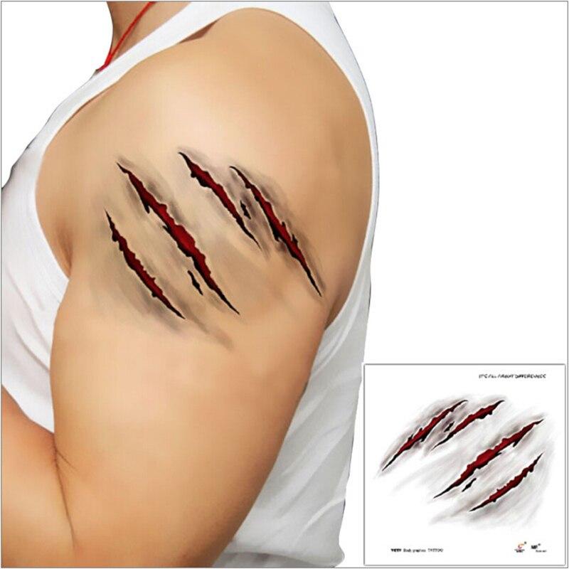 Хэллоуин наклейки татуировки со шрамами зомби с поддельной крови парши специальный костюм Fx макияж Хэллоуин украшение