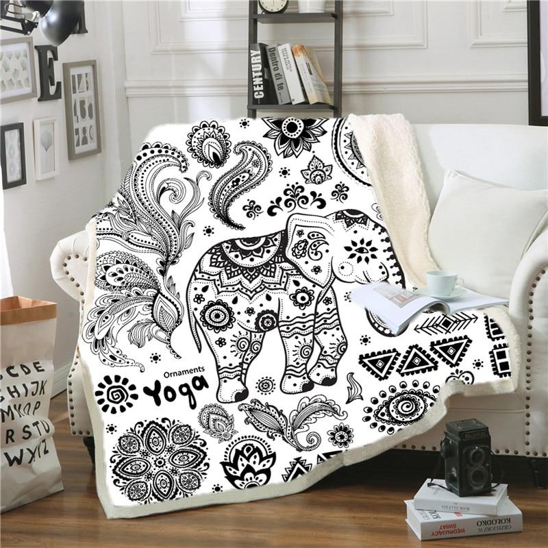 Anime manta elefante de Deken Couverture Polaire Adulte Cobijas Para Cama Plaide decoración Cobertor Cama Cobijas