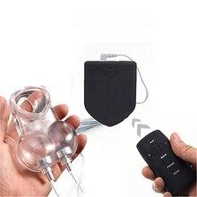 Télécommande sans fil électro choc Cage de chasteté anneau de pénis jouets sexuels pour hommes Scrotum manchon balle civière coq anneau Cage