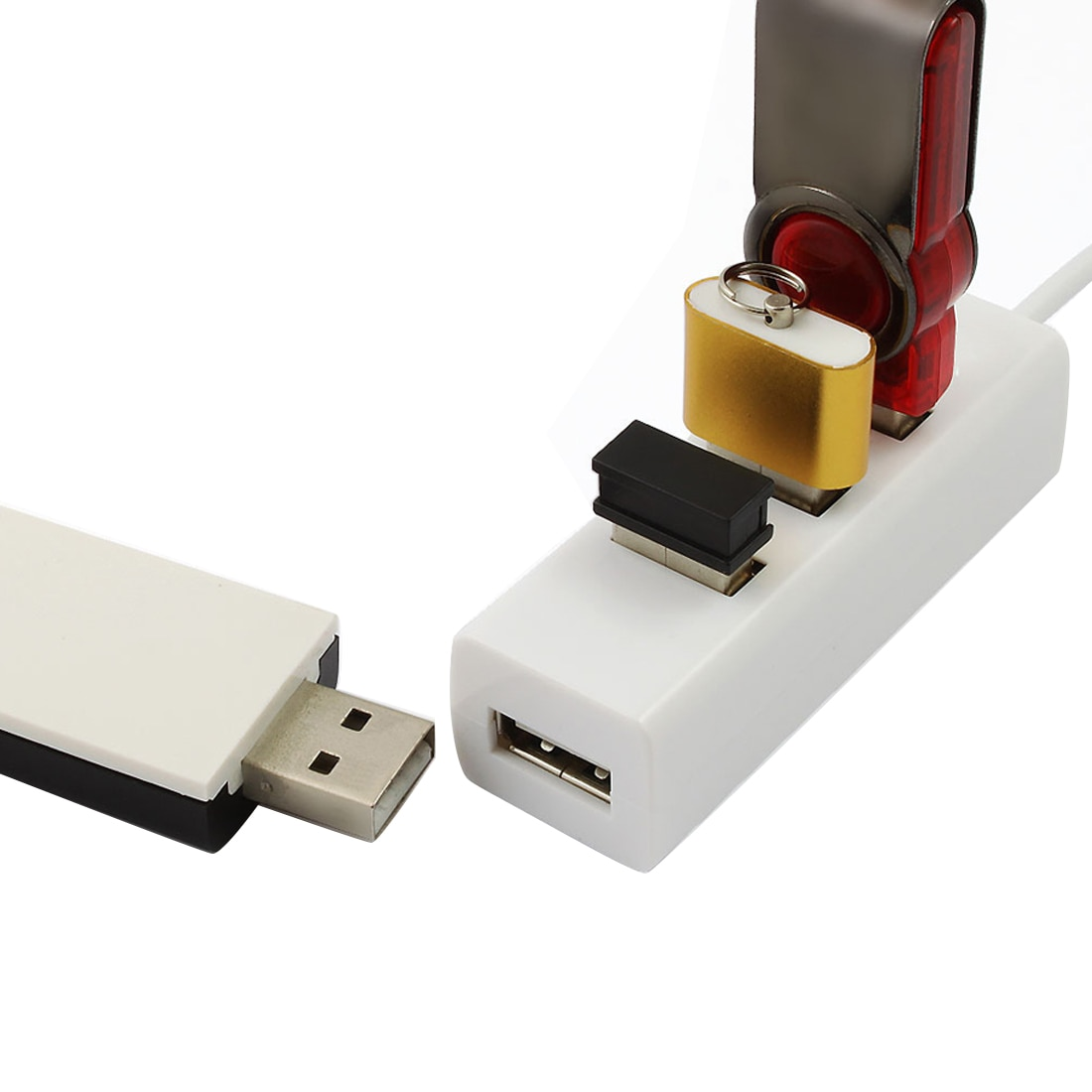 centechia  4 Port USB 2.0 Hub Adapter High-Speed USB Hub SplitterMini For PC Computer For Portable Hard Drives