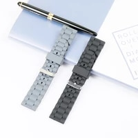 high quality silicone strap mens hands table accessories pin buckle 24mm outdoor sports waterproof rubber strap women band
